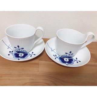 ロイヤルコペンハーゲン(ROYAL COPENHAGEN)のカップ&ソーサー ブルーフルーテッドメガ(食器)