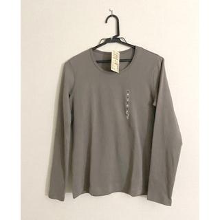 ムジルシリョウヒン(MUJI (無印良品))の新品未使用❣️今期‼️無印良品 クルーネック長袖Tシャツ M(Tシャツ(長袖/七分))
