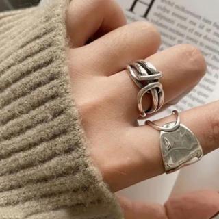 Ameri VINTAGE - 大人気なため再入荷!tear drop ring silver925 2点セット
