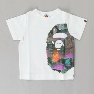 A BATHING APE - BAPE KIDS NEON TOKYO SIDE BIG APE HEAD