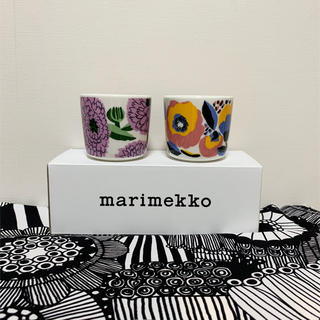 マリメッコ(marimekko)のmarimekko マリメッコ お花柄ラテマグ 2点 新品送料込(グラス/カップ)
