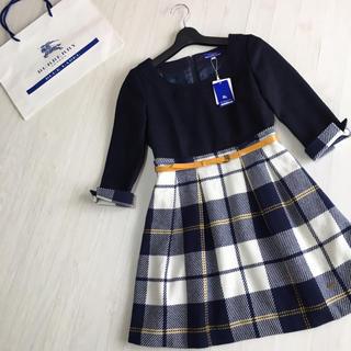 BURBERRY BLUE LABEL - 新品タグ付き☆バーバリーブルーレーベル 七分袖 ワンピース 36サイズ