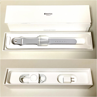 アップル(Apple)の【確認用】Apple Watch 3 セルラー 42mm シルバーアルミニウム(腕時計(デジタル))