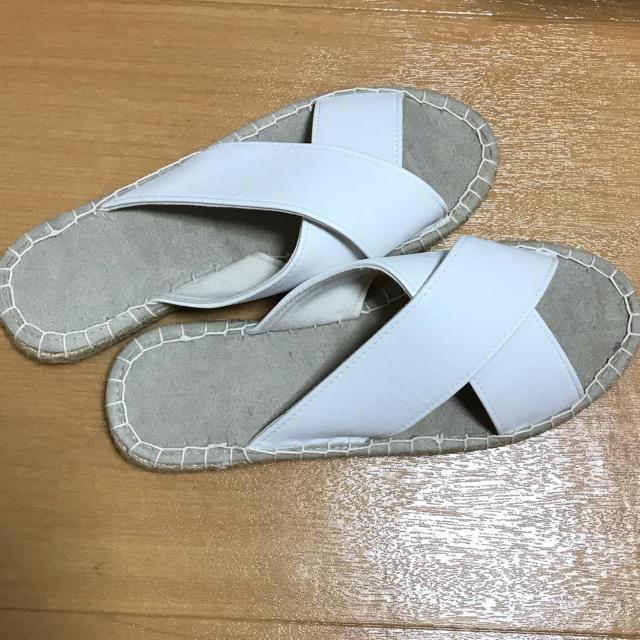サンダル 23.5-24cm ホワイト レディースの靴/シューズ(サンダル)の商品写真