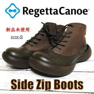 リゲッタカヌー(Regetta Canoe)の新品未使用 Regetta Canoe リゲッタカヌー サイドジップ ブーツ①(ブーツ)