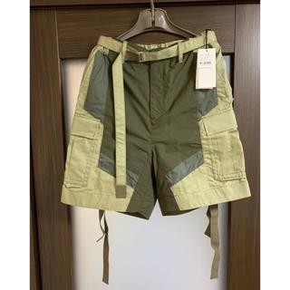 サカイ(sacai)のsacai fabric combo shorts befge×khaki 1(ワークパンツ/カーゴパンツ)