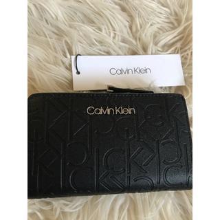カルバンクライン(Calvin Klein)のカルバンクライン レディース 2つ折り財布 黒(財布)