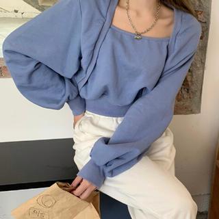 STYLENANDA - ☆新品未使用☆韓国ファッション☆秋冬新作☆ブルー スウェット トレーナー