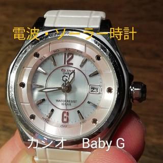 カシオ(CASIO)のラ129. Baby G カシオ  電波・ソーラー時計 デイト 訳有り(腕時計)