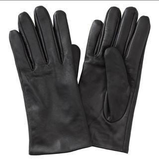 ムジルシリョウヒン(MUJI (無印良品))の新品  無印良品  撥水レザータッチパネル手袋  21cm(手袋)