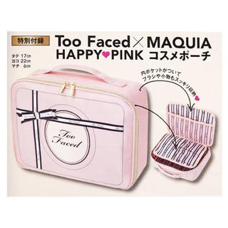 Too Faced - 【未開封】MAQUIA 11月号付録 Too Faced コスメポーチ