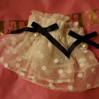 Angelic Pretty - ロゴ パール 付き お袖留め 白 黒