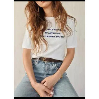 moussy - MOUSSY FLOCKY LETTERED PRINT Tシャツ