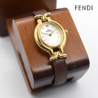 フェンディ(FENDI)の《一点物》FENDI 腕時計 ゴールド チェンジベルト スイスメイド(腕時計)
