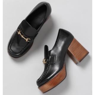 ジーナシス(JEANASIS)のJEANASiS ビットツキローファー ブラック(ローファー/革靴)