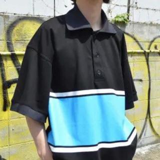 SUNSEA - NEON SIGN ポロシャツ ビッグポロシャツ