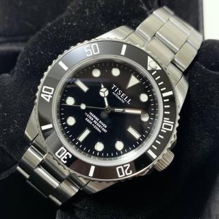 TISELL  マリンダイバー 40mm ブラック 自動巻き セラミックベゼル(腕時計(アナログ))