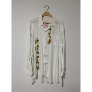 ヨウジヤマモト(Yohji Yamamoto)のY'sformen レーヨンフラワー刺繍オープンカラーシャツ 鹿鳴館期 希少(シャツ)