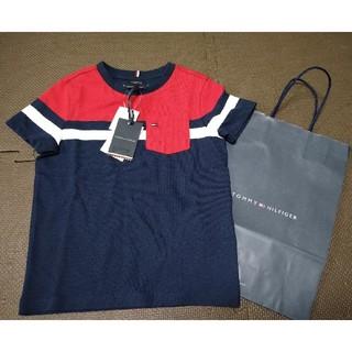 トミーヒルフィガー(TOMMY HILFIGER)のトミーヒルフィガー 新品 110 Tシャツ キッズ 子供用 オーガニックコットン(Tシャツ/カットソー)