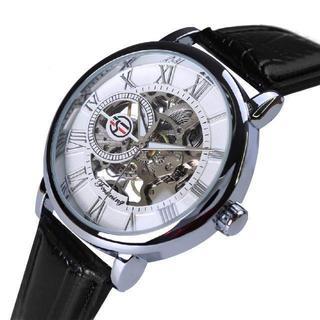 大特価!4480円 どんな服装にも 男女兼用モデル スケルトン腕時計(腕時計(アナログ))