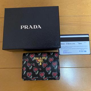 PRADA - 【新品未使用】PRADA プラダ 三つ折り ミニ財布