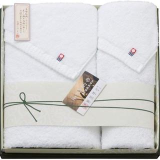 イマバリタオル(今治タオル)の【新品】今治 矢野紋織謹製 白タオルセット(タオル/バス用品)