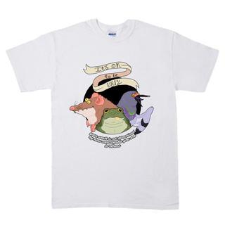 モグラ カエル ハト イラスト プリント 半袖 Tシャツ  rrb87(Tシャツ/カットソー(半袖/袖なし))