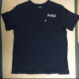 ラットランド バクプリ入り ピンストライプ ポケット Tシャツ 黒L レア(Tシャツ/カットソー(半袖/袖なし))
