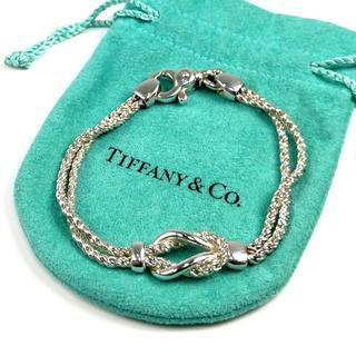 Tiffany & Co. - 美品 ティファニー ダブル ロープ ノット ブレスレット LI63