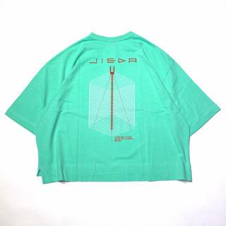ジエダ(Jieda)のJieDa GEOMETRIC BIG PRINT T-SHIRT GREEN(Tシャツ/カットソー(半袖/袖なし))