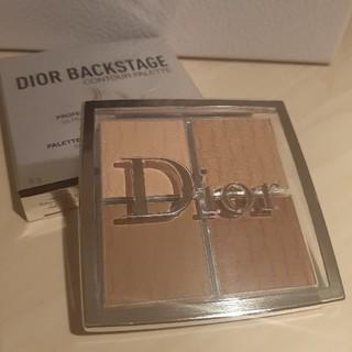 ディオール(Dior)のディオール バックステージ コントゥール パレット 001 箱付き(フェイスカラー)