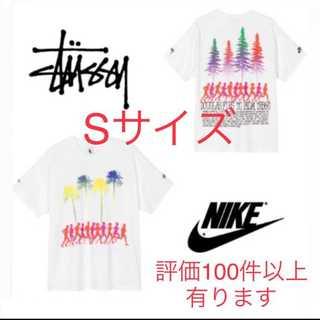 ナイキ(NIKE)の【即発送】NIKE stussy ビーチ tシャツ ホワイト Sサイズ(Tシャツ/カットソー(半袖/袖なし))