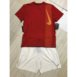 ナイキ(NIKE)の新品 ナイキ NIKE スポーツウエア上下セット XLサイズ(Tシャツ/カットソー(半袖/袖なし))