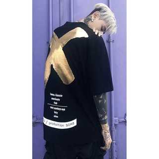 【ストリート系】バックプリントビックロゴ Tシャツ(Tシャツ/カットソー(半袖/袖なし))