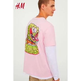 エイチアンドエム(H&M)の新品 H&M × スポンジボブ コラボ Tシャツ XLサイズ(Tシャツ/カットソー(半袖/袖なし))