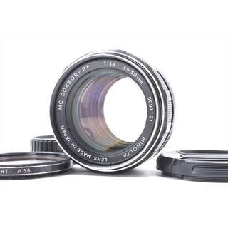 コニカミノルタ(KONICA MINOLTA)のMinolta ミノルタ MC Rokkor PF 58mm F/1.4 MC(レンズ(単焦点))