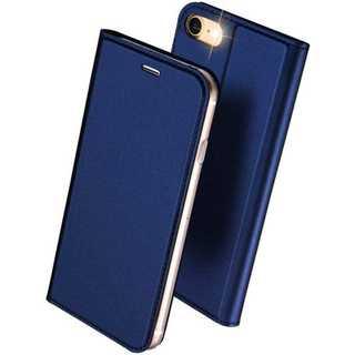 【D12】iPhone7/8(ネイビー)手帳型マグネット付き