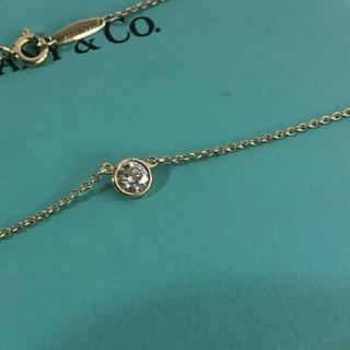 Tiffany & Co. - 0.25以上 ティファニー バイザヤード ダイヤネックレス K18YG