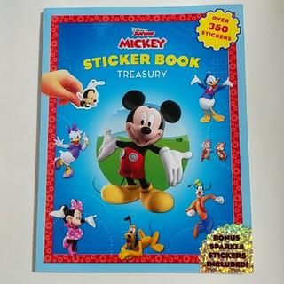 ディズニー(Disney)のディズニー ミッキーマウス ステッカーファン シールブック 350枚以上(絵本/児童書)