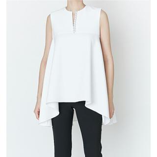 バーニーズニューヨーク(BARNEYS NEW YORK)の新品 YOKO CHAN Pearl Circular Blouse 36(シャツ/ブラウス(半袖/袖なし))