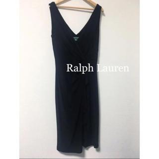ラルフローレン(Ralph Lauren)のRalph Lauren ブラックワンピース ドレス(ひざ丈ワンピース)