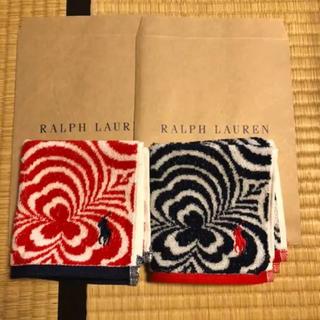Ralph Lauren - 新品★ラルフローレン  タオルハンカチ 2枚セット