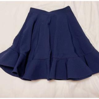 リリーブラウン(Lily Brown)の裾フリル ボリュームフレアスカート(ひざ丈スカート)
