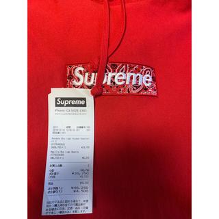 Supreme - L supreme box logo パーカー バンダナ 美品