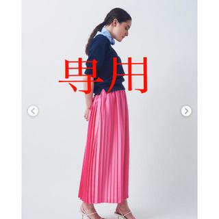 ドゥーズィエムクラス(DEUXIEME CLASSE)のyori サテンプリーツスカート検索drawerシャツボーダーズ (ひざ丈スカート)