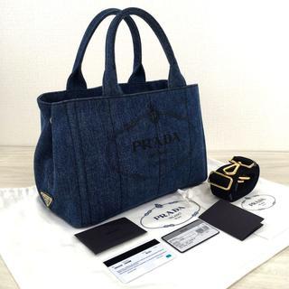 PRADA - 極美品 PRADA カナパ DENIM 1BG439 デニム Sサイズ 80