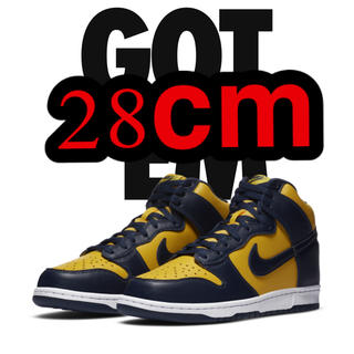 NIKE - 28cm nike dunk High sp Michigan