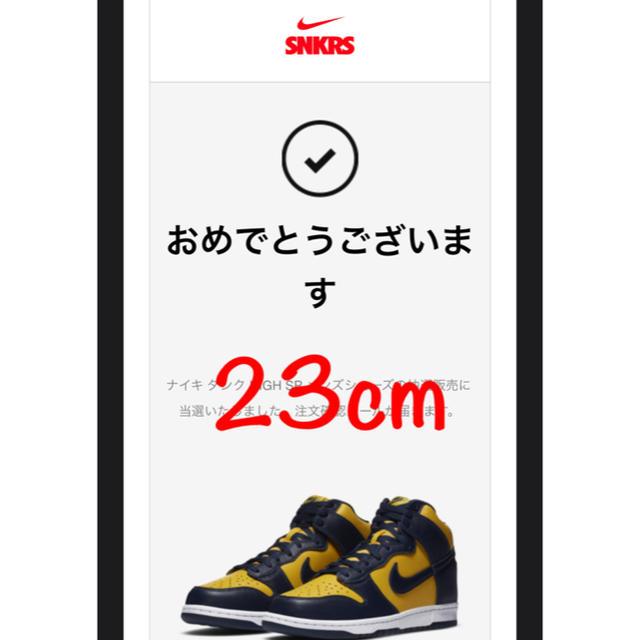 NIKE(ナイキ)のNIKE DUNK HI SP MAIZE and BLUE ミシガン メンズの靴/シューズ(スニーカー)の商品写真