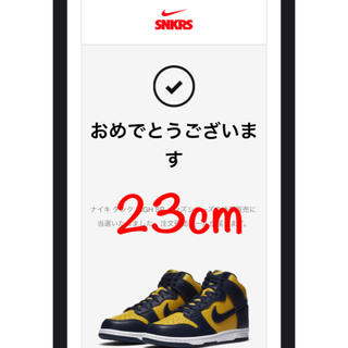 NIKE - NIKE DUNK HI SP MAIZE and BLUE ミシガン