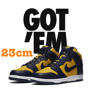 NIKE - NIKE DUNK HIGH Maize and Blue 23cm